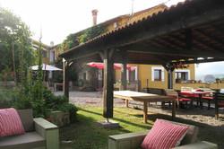 Garden and porch