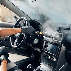 Nettoyage vapeur voiture