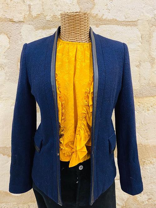 Sunshineforlaeti - Veste Maje Blazer laine 100% bleue marine T36