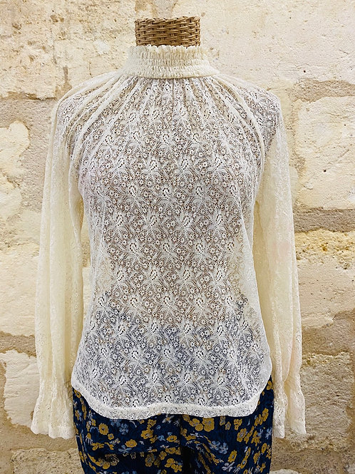 Lilylovesfashion - Blouse The Korner dentelle crème blanc sable T36