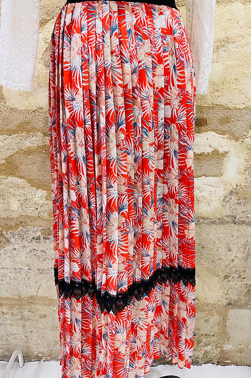 Lilylovesfashion - Jupe I Code plisse rouge à grosses fleurs T36