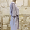 Thumbnail: Robe American Vintage beige avec ceinture - TM
