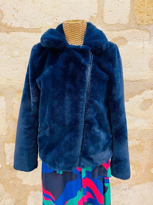 Manteau Mon beau vêtement bleu style fourrure TS