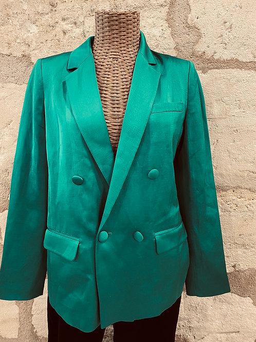 Lilylovesfashion - blazer Sézane vert 46%lin T36