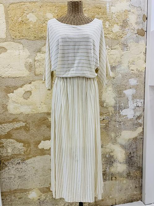 Robe Des Petits Hauts blanche et dorée - T3