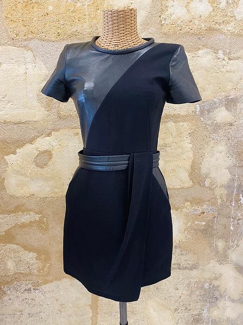 Robe The Kooples cuir noir T36