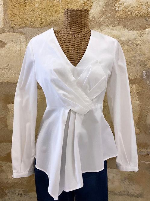 Blouse / chemise Claudie Pierlot blanche noeud T38