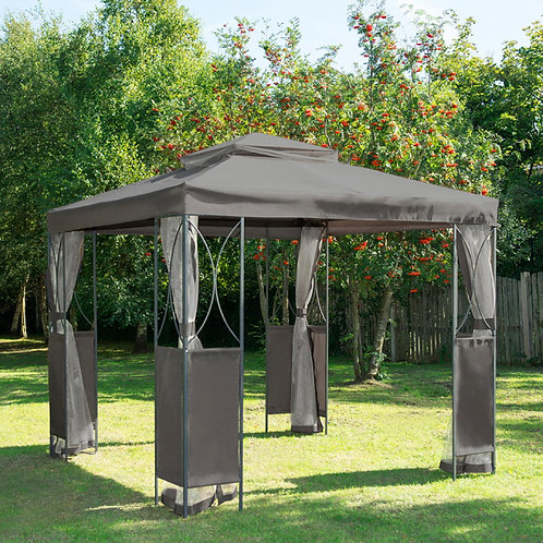 Gazebo with sides (AVAILABLE IN STORE)