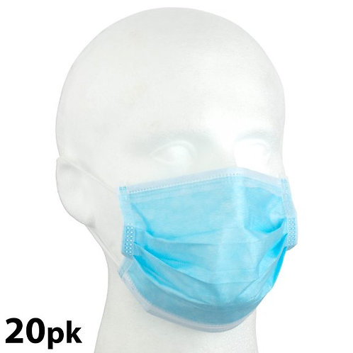 3-PLY DISPOSABLE FACE MASK (PACK OF 20)