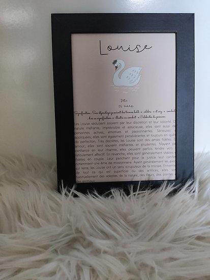 Affiche signification de prénom Swan