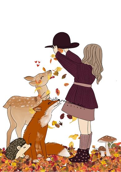 Affiche woodland love.