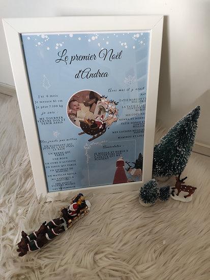 Affiche souvenir de Noël