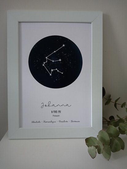 Affiche, Signe astrologique dans les étoiles