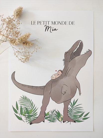 Affiche simple T-rex