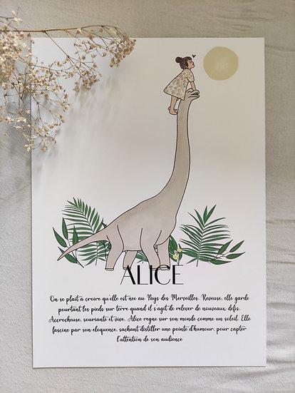 Affiche caractère du prénom Diplodocus