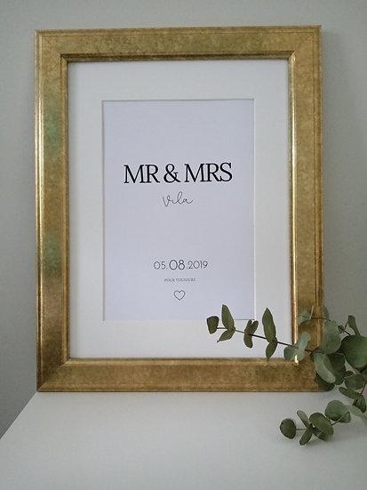 Affiche Mariage 🖤