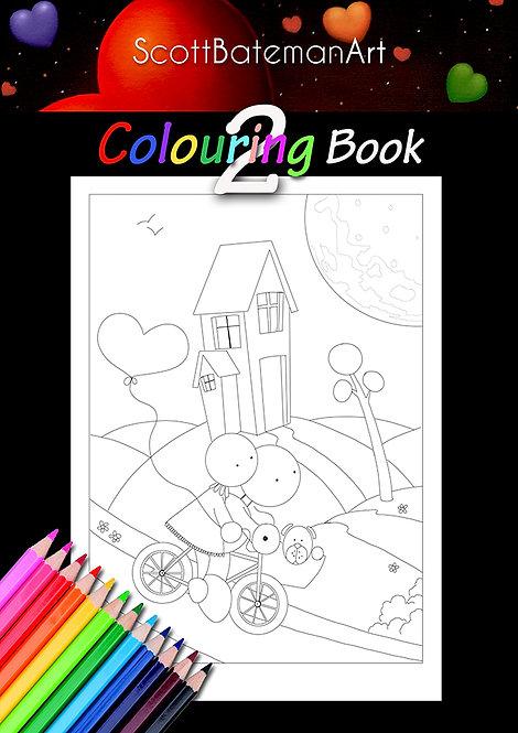 Scott Bateman Art Colouring Book 2
