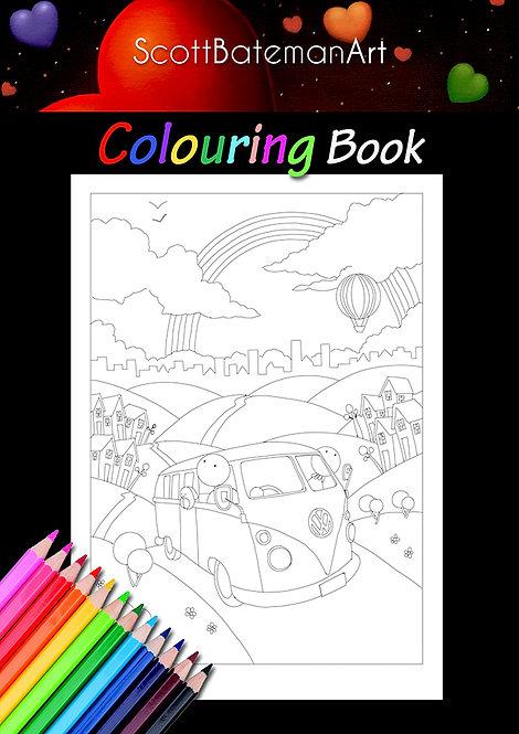 Scott Bateman Art Colouring Book