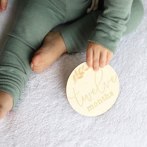 Milestone Baby Wooden Tags