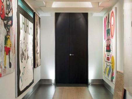 Este piso familiar bien podría parecer una galería de arte