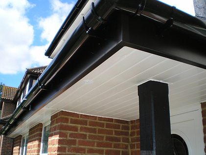 black upvc gutter and fascias with white soffit