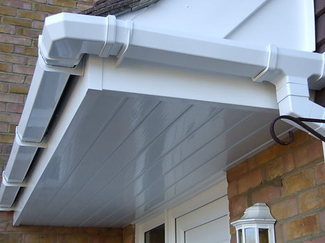 all white upvc gutter, fascia and soffit
