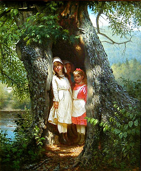 "J.G. Brown's ""Hiding in the Old Oak"""