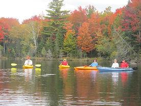 Kayaking on Molly's Falls Pondd