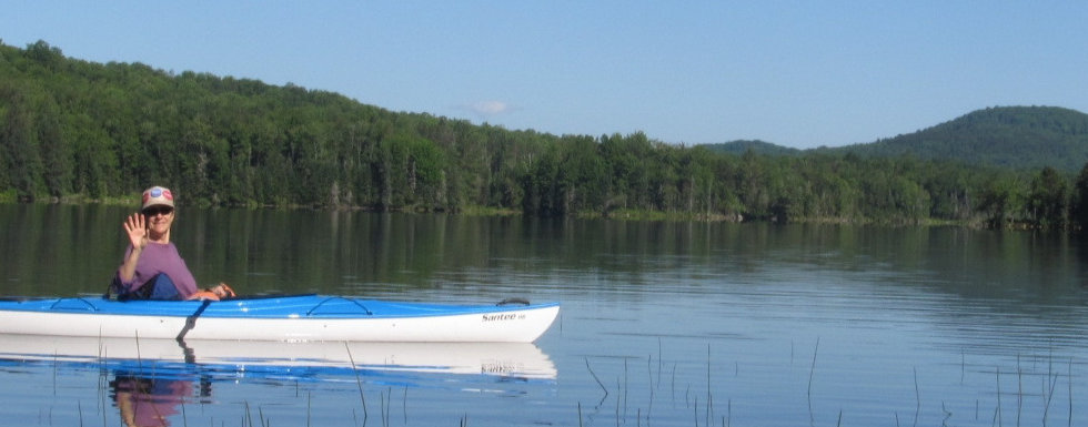 Kayaking on Molly's Falls Pond.