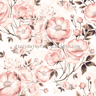 Peach Floral (For blankets)