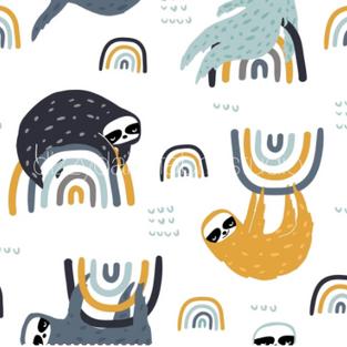 Rainbow Sloth  (For blankets)