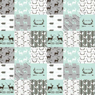 Little man antlers patchwork