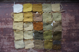 dyed colour samples