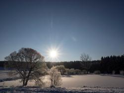 sonniger Wintertag Posseck