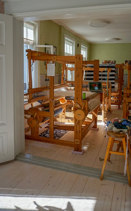 the weaving studio