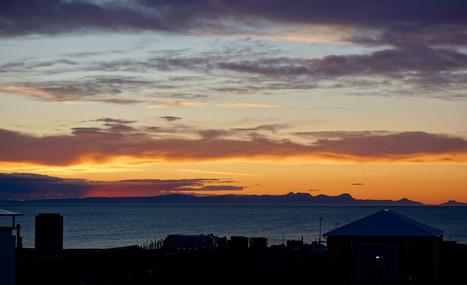 Sunset view from Textílmiðstöð Íslands