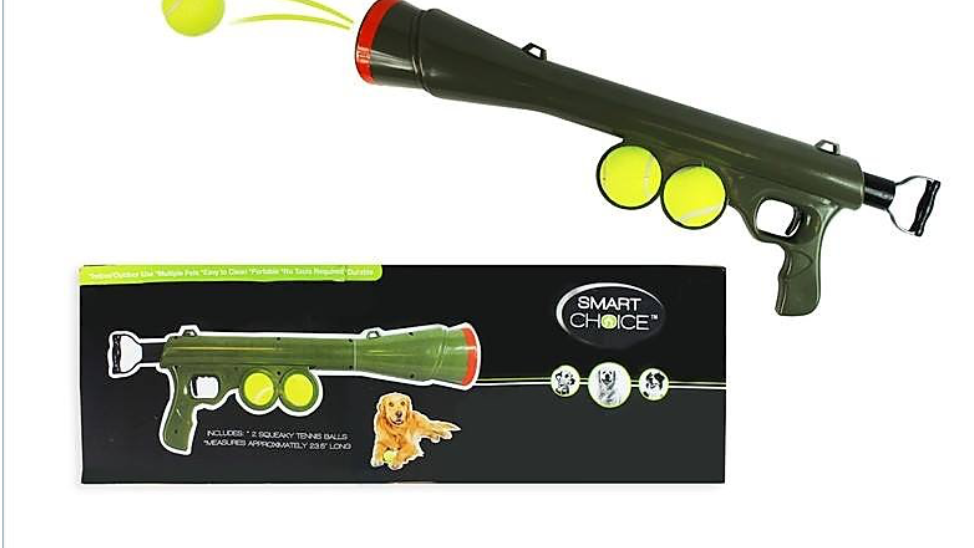 Dog Ball Launcher Gun Tennis Balls Thrower Pet Funny Toy Outdoor Dogs Training
