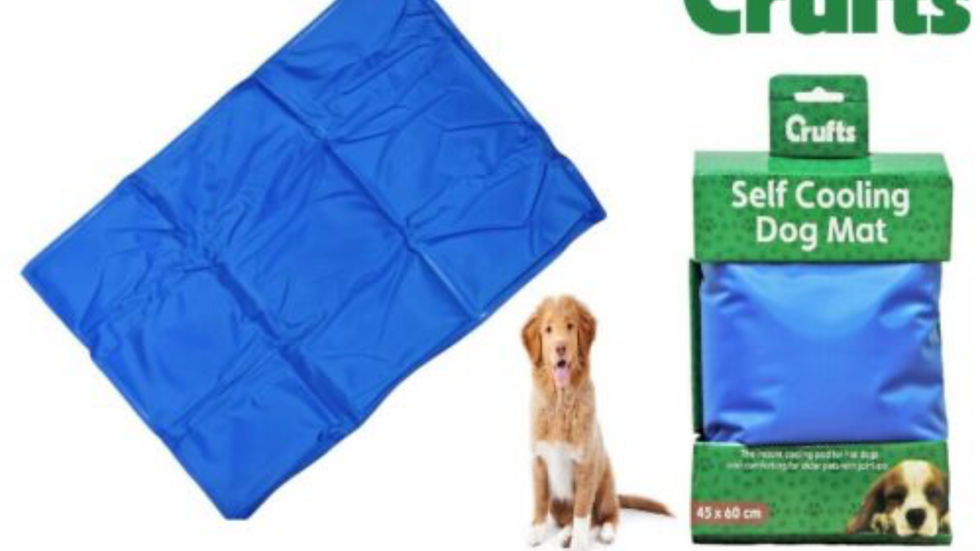 CRUFTS PET COOLING GEL MAT BED DOG CAT HEAT RELIEF NON TOXIC CUSHION PAD 40X30CM