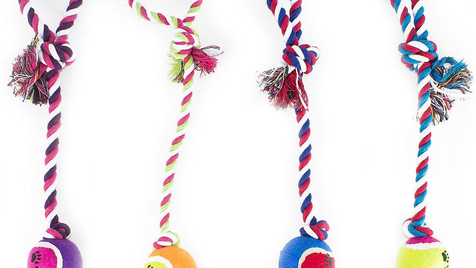 Tennis Ball Rope Tug Toy