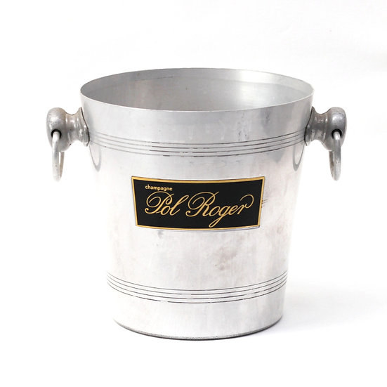 Champagne wine ice bucket aluminium champagne pol roger French European antique vintage furniture homeware décor nz front