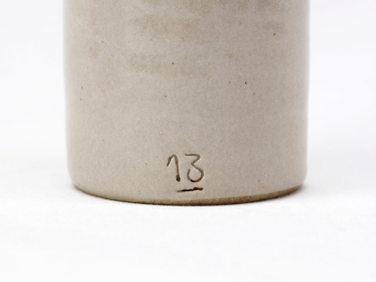 French-antique-vintage-stoneware-bottle-provincial-rustic-farmhouse-oatmeal-number-13-nz-new-zealand-image-1