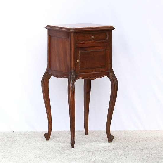 French-antique-vintage-walnut-nightstand-carved-nz-new-zealand-image-1