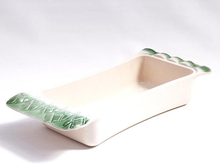 French-antique-vintage-majolica-asparagus-serving-dish-bakeware-nz-new-zealand-image-1