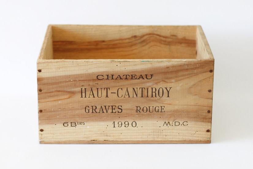 vineyard wooden wine box Chateau Haut-Cantiroy nz French European antique vintage furniture homeware décor nz