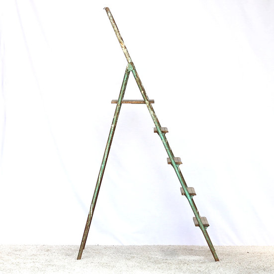 French-antique-vintage-industrial-painters-step-ladder-a-line-nz-new-zealand-image-1