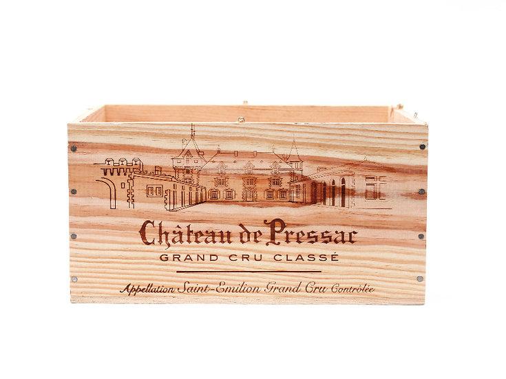 vineyard wooden wine box Chateau de pressar nz French European antique vintage furniture homeware décor nz front