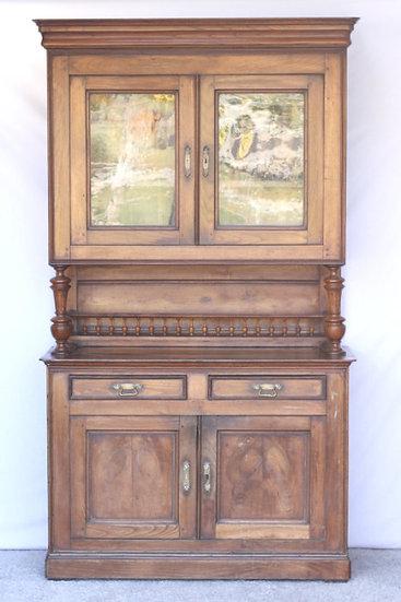 oak henry II carved buffet kitchen unit French European antique vintage furniture homeware décor nz front view