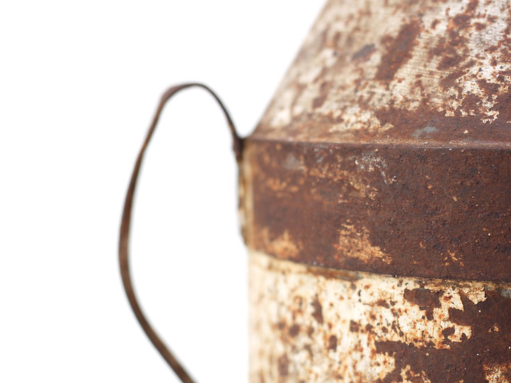 French-antique-vintage-rustic-oil-canister-nz-new-zealand-image-1