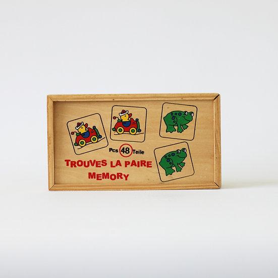 wooden alphapet jigsaw puzzle French European antique vintage furniture homeware décor nz box