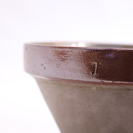 French-antique-vintage-pottery-mixing-bowl-rustic-farmhouse-grey-glaze-nz-new-zealand-image-2